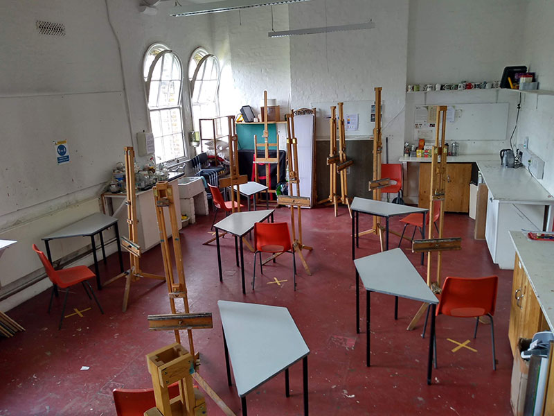 Distanced art room